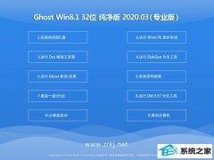 大地系统Windows8.1 v2020.03 32位 万能纯净版